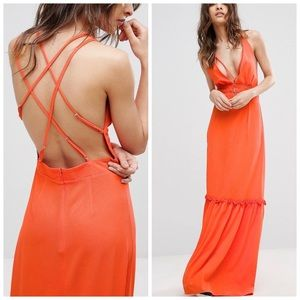 ASOS Dresses - 1 LEFT! NWT ASOS open back strappy maxi dress